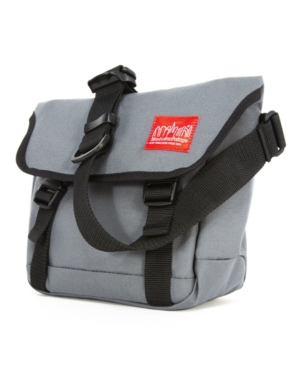 Manhattan Portage Medium Kent Messenger Bag In Gray