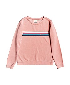 Roxy Little Girl Low Rising Crew Neck Fleece Top