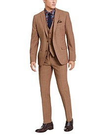 Men's Slim-Fit Active Stretch Performance Gold Suit Separates, Created for Macy's