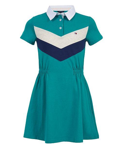 Tommy Hilfiger Big Girls Striped Polo Dress