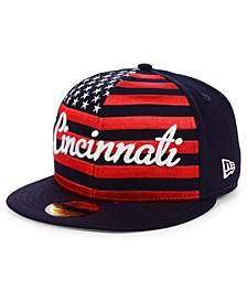 Cincinnati Reds Retro Big Flag 59FIFTY Cap