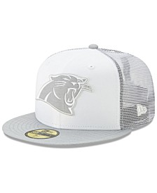 Carolina Panthers White Cloud Meshback 59FIFTY Cap