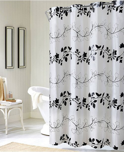 Hookless Floral Vine Shower Curtain