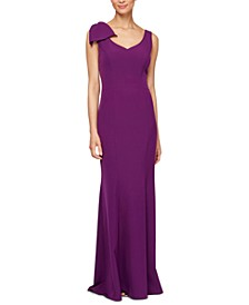 Petite Bow-Detail Gown