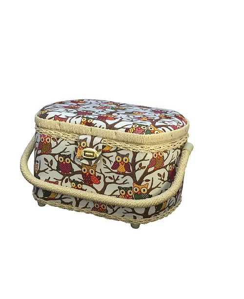 Michley FS-096 Owl Sewing Basket With Sewing Kit