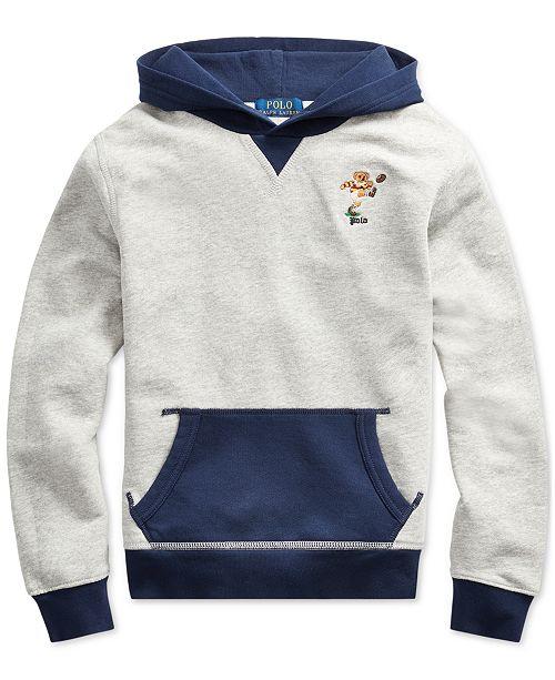 Polo Ralph Lauren Big Boys Polo Bear Cotton Fleece Hoodie