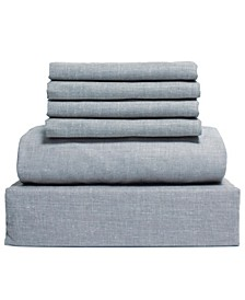 Chambray 6-Piece Sheet Set, Size- Queen