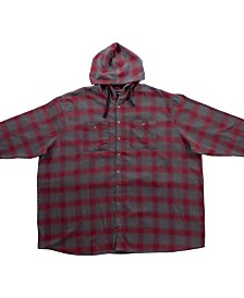 PX Clothing Big and Tall Long Sleeve Flannel Shirt