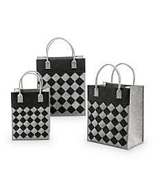 Home Crosshatch Tote Set