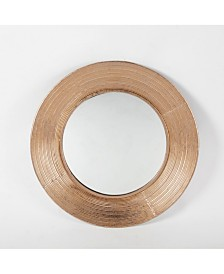 Luxen Home Metal Round Wall Mirror