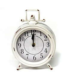Stratton Home Decor Dorothy vintage inspired White Metal Table Clock