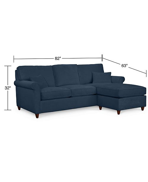 Super Lidia 82 Fabric 2 Pc Chaise Sectional Queen Sleeper Sofa With Storage Ottoman Custom Colors Created For Macys Squirreltailoven Fun Painted Chair Ideas Images Squirreltailovenorg