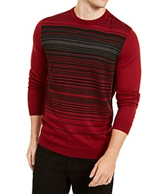 Men's Merino Blend Stripe Crewneck Sweater, Created for Macy's