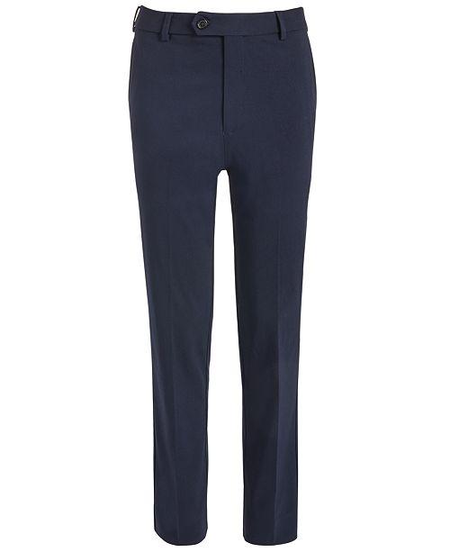 Lauren Ralph Lauren Big Boys Classic-Fit Stretch Navy Blue Twill Dress Pants
