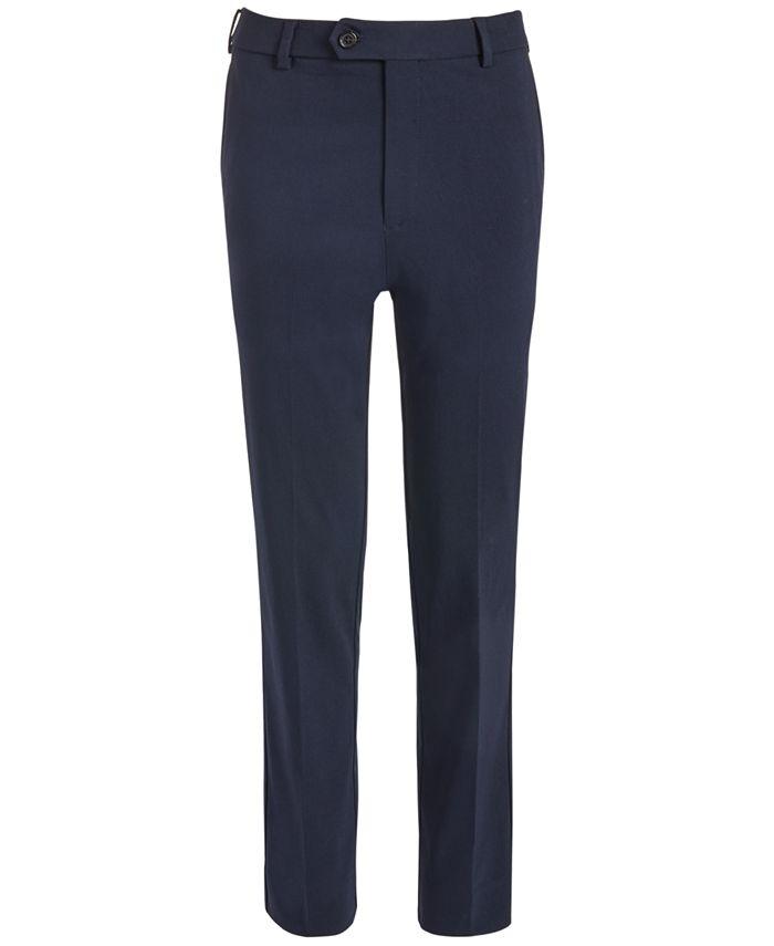 Lauren Ralph Lauren - Big Boys Classic-Fit Stretch Navy Blue Twill Dress Pants