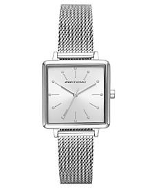 A X Armani Exchange Women's Lola Stainless Steel Mesh Bracelet Watch 30mm