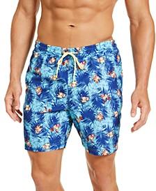 """Men's Bulldog Print 7"""" Swim Trunks, Created for Macy's"""