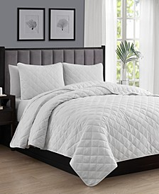 Oversize Lightweight Quilt Coverlet Set - Full/Queen