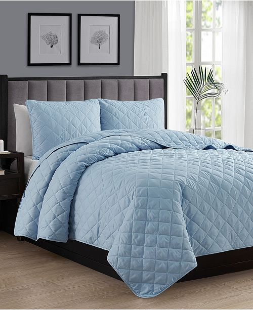 Cathay Home Inc. Oversize Lightweight Quilt Coverlet Set - Twin/Twin XL