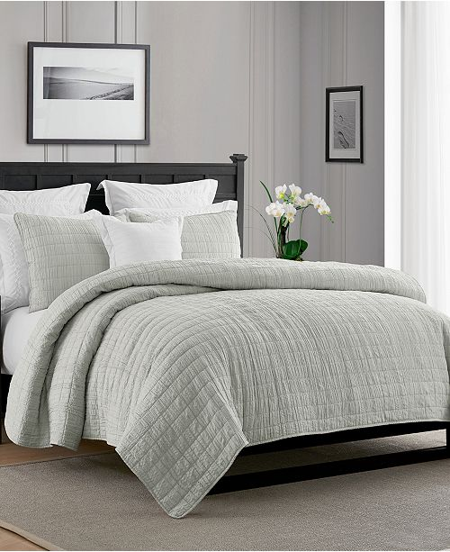 Cathay Home Inc. Enzyme Washed Crinkle Quilt Set - Twin/Twin XL