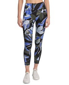 DKNY Sport Botanica Printed High-Waist Leggings