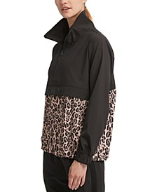 Sport Leopard-Print Colorblocked Jacket
