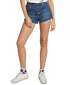 Juniors' Button-Fly Denim Shorts