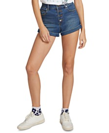 Volcom Juniors' Button-Fly Denim Shorts
