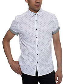 Kenneth Cole Men's Lightning Bolt Pattern Shirt