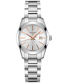 Women's Swiss Conquest Classic Stainless Steel Bracelet Watch 29.5mm
