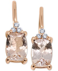 Morganite (2-1/3 ct. t.w.) & Diamond Accent Drop Earrings in 14k Rose Gold