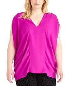 RACHEL Rachel Roy Trendy Plus Size Rima Top