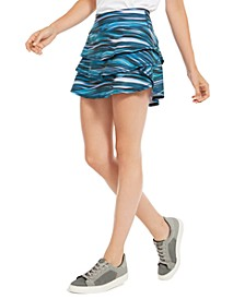 Abstract Tide Printed Skort, Created for Macy's