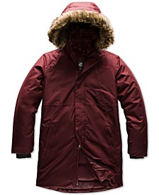 Little & Big Girls Arctic Swirl Down Hooded Jacket With Faux-Fur Trim