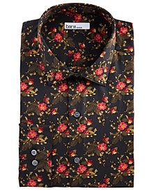 Bar III Men's Slim-Fit Stretch Painted Poppy Dress Shirt, Created for Macy's