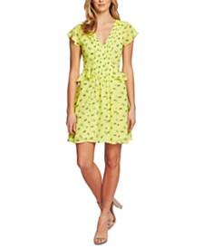 CeCe Floral-Print Mini Dress