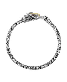 EFFY® Men's Certified Ruby (1/20 ct. t.w.) and Diamond (1/10 ct. t.w.) Dragon Bracelet in Sterling Silver and 14k Yellow Gold
