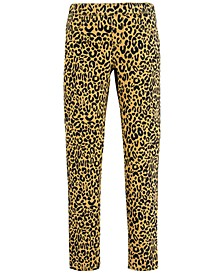 Big Girls Animal-Print Jeggings