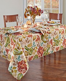 "Elrene Gourd Gathering Fall Printed Tablecloth, 60"" x 84"" Oblong"