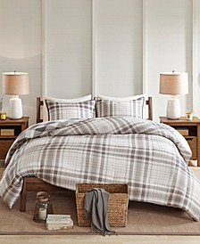 Sheffield King/California King 3-Pc. Cotton Printed Reversible Duvet Cover Set