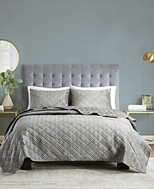 Lewis Full/Queen 3-Pc. Reversible Micro Mink Coverlet Set