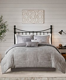 Walter Queen 7-Pc. Printed Seersucker Comforter Set