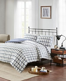 Madison Park Kinney 3-Pc. Yarn Dye Polyester Seersucker Duvet Cover Sets