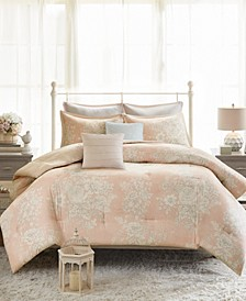 Gloria Full/Queen 7-Pc. Cotton Printed Comforter Set