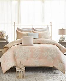 Madison Park Gloria Full/Queen 7-Pc. Cotton Printed Comforter Set
