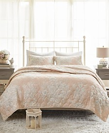 Madison Park Gloria King/California King 3-Pc. Cotton Printed Reversible Quilted Coverlet Set