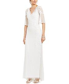 Garden Trellis Beaded Gown