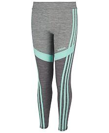 adidas Big Girls Colorblocked Melange Leggings