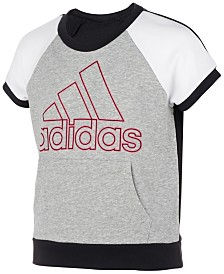 adidas Big Girls Colorblocked Logo Top