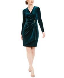 Calvin Klein Velvet Wrap Dress